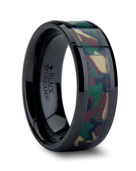 Mens Tungsten Wedding Bands C835-BCJC Tungsten Wedding Ring