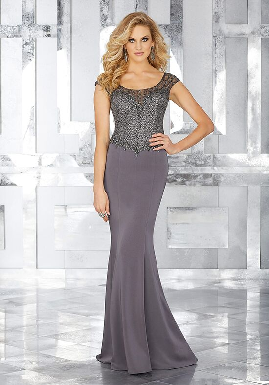 MGNY 71603 Gray Mother Of The Bride Dress