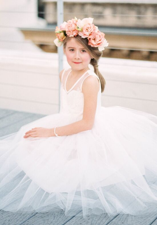 FATTIEPIE belle Ivory Flower Girl Dress