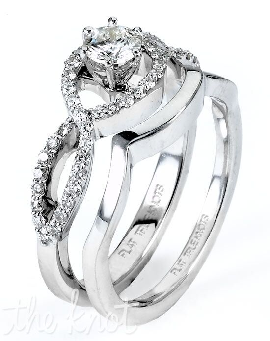 TRUE KNOTS True Women - TK2986S & TK2986TB Platinum, White Gold Wedding Ring