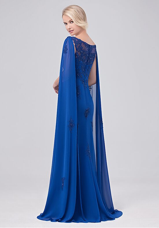 Val Stefani Celebrations MB7629 Blue Mother Of The Bride Dress