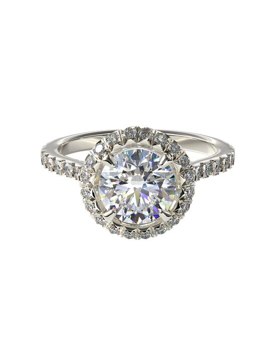 James Allen Glamorous Cushion, Round Cut Engagement Ring