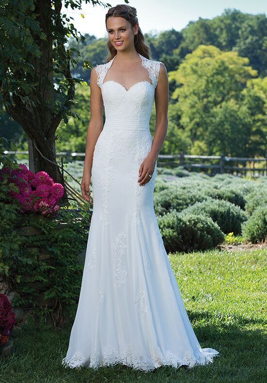 Sincerity Bridal 3992 Sheath Wedding Dress