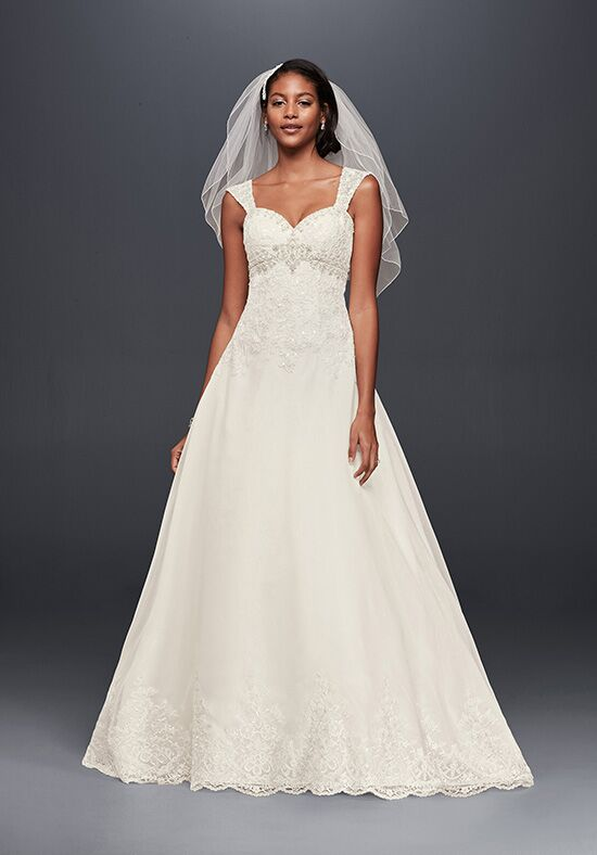 David's Bridal Jewel Style WG3838 A-Line Wedding Dress