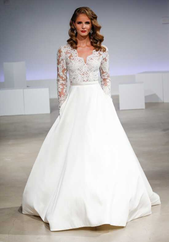 Anne Barge Brooks A-Line Wedding Dress