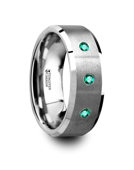 Mens Tungsten Wedding Bands T5424-BPBE Tungsten Wedding Ring