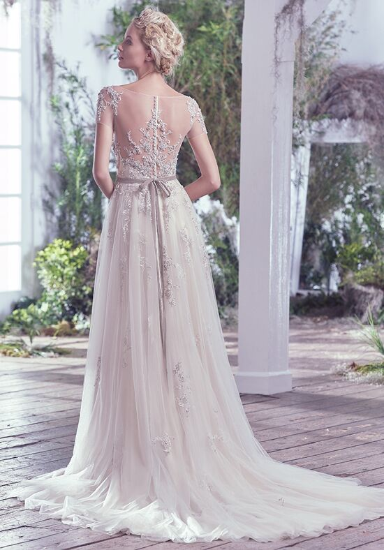 ethereal wedding dress maggie sottero wedding dress the knot 3935