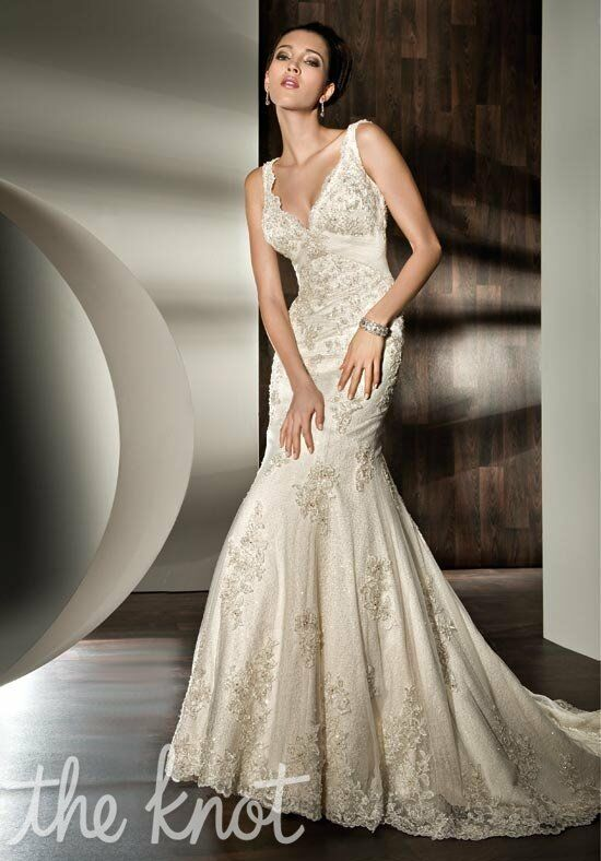 Demetrios 1421 Mermaid Wedding Dress