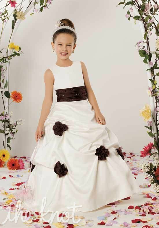 Sweet Beginnings L310 Black Flower Girl Dress