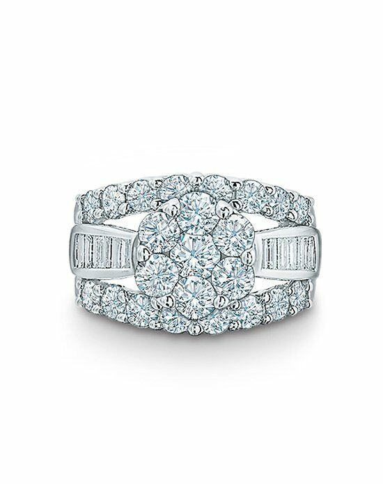 zales 4 ct t w composite cluster engagement ring
