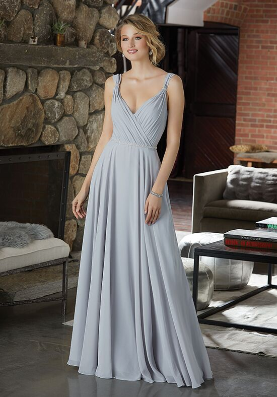 Morilee by Madeline Gardner Bridesmaids 21588 V-Neck Bridesmaid Dress