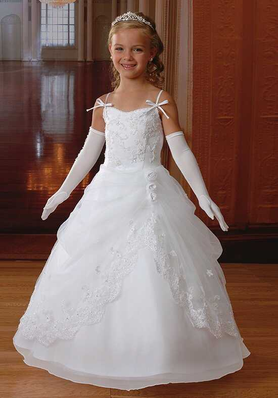 Cupids by Mary's F785 White Flower Girl Dress