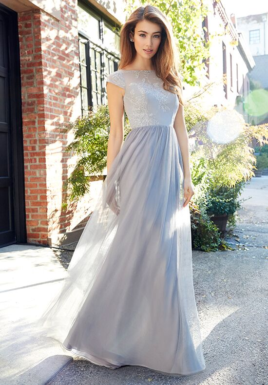 Hayley Paige Occasions 5805 Bateau Bridesmaid Dress