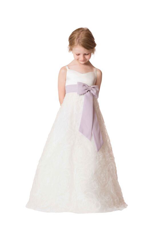 Bari Jay Flower Girls F6117 Ivory Flower Girl Dress