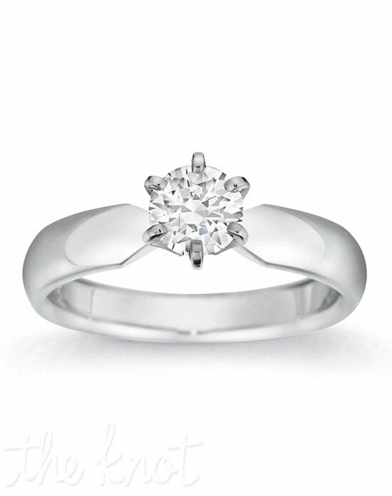 Gemesis Gemesis Six-Prong Solitaire White Gold Wedding Ring