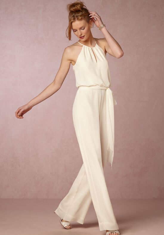 bhldn jackie jumpsuit sheath wedding dress