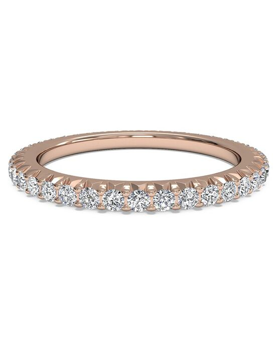 Ritani Women's Open Micropave Diamond Eternity Wedding Ring - in 18kt Rose Gold - (0.60 CTW) Rose Gold Wedding Ring