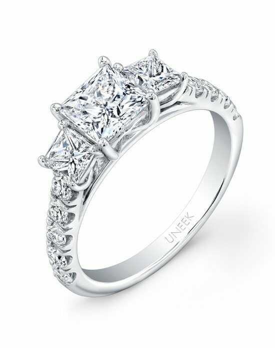 Uneek Fine Jewelry Princess Cut Engagement Ring