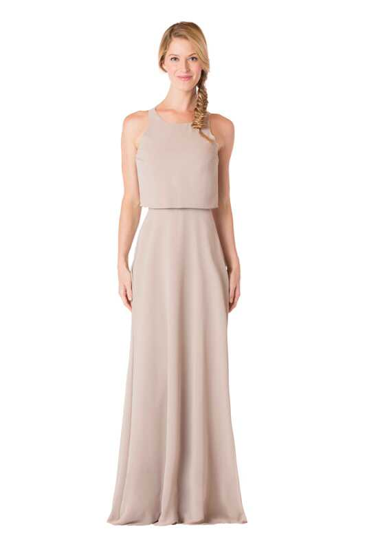 Bari Jay Bridesmaids BC-1703 Bateau Bridesmaid Dress