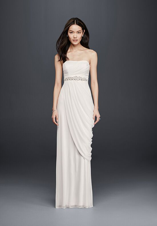 David's Bridal David's Bridal Collection Style SDWG0417 Sheath Wedding Dress