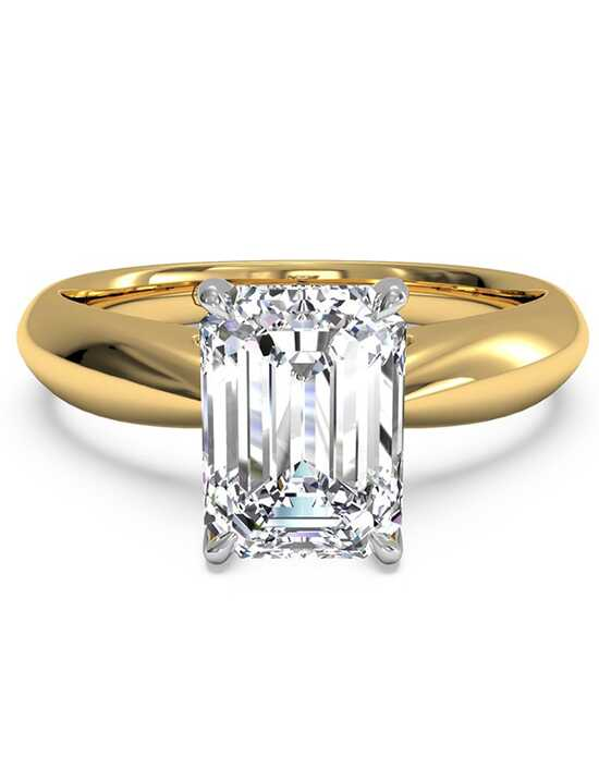 Ritani Classic Emerald Cut Engagement Ring