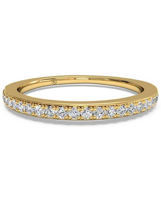Ritani Women's Micropave Diamond Wedding Band - in 18kt Yellow Gold (0.22 CTW) Gold Wedding Ring