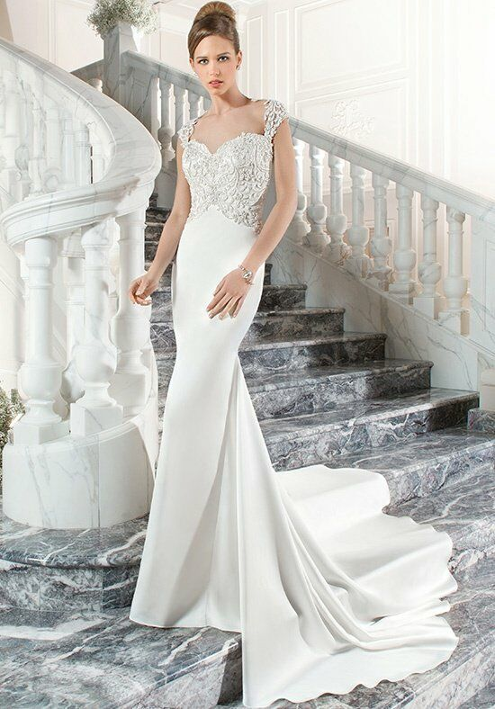Demetrios C202 Sheath Wedding Dress