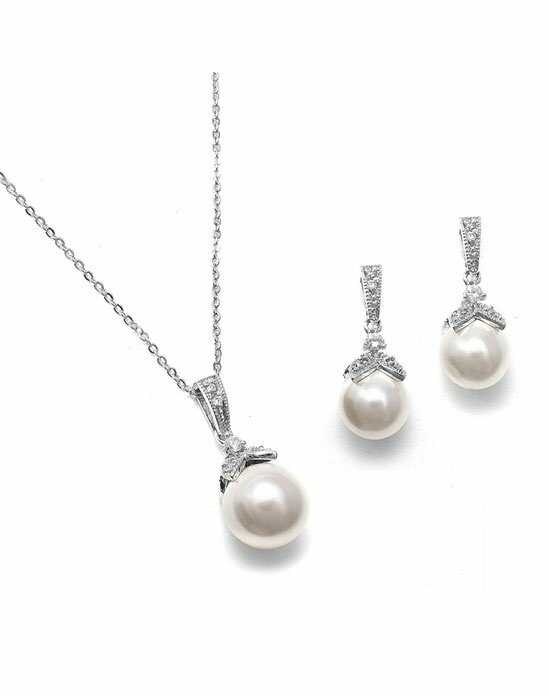 USABride CZ & Pearl Drop Jewelry JS-1578 Wedding Necklace photo