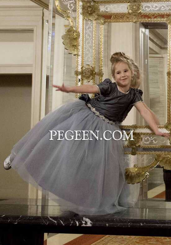 Pegeen.com 931 Black Flower Girl Dress