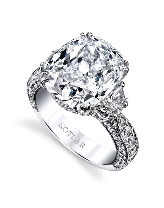 "Say ""Yes!"" in Platinum Glamorous Cushion Cut Engagement Ring"
