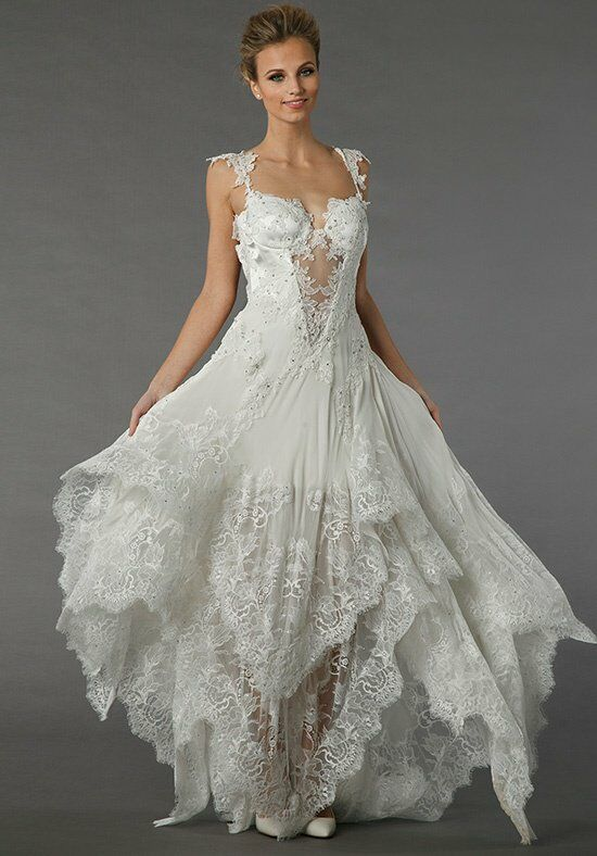 Pnina tornai for kleinfeld 4356 wedding dress the knot for Pnina tornai wedding dresses prices