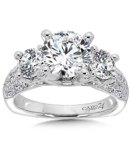 Caro 74 Glamorous Round Cut Engagement Ring
