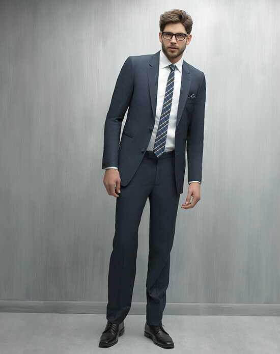 Allure Men Indigo Suit Blue Tuxedo
