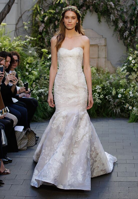 Monique Lhuillier Camellia Mermaid Wedding Dress
