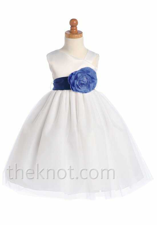Pink Princess BL209 Blue Flower Girl Dress