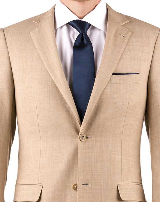 Generation Tux Tan Sharkskin Notch Lapel Brown, Gold, Champagne, White, Yellow Tuxedo