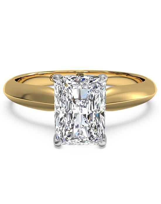 Ritani Solitaire Diamond Knife-Edge Engagement Ring - in 18kt Yellow Gold for a Radiant Center Stone Engagement Ring photo