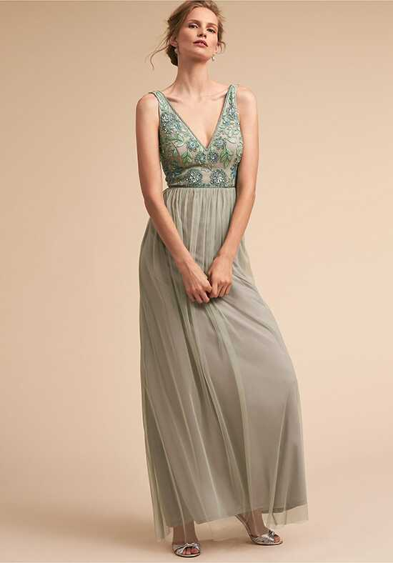 BHLDN (Bridesmaids) Hibiscus Dress V-Neck Bridesmaid Dress