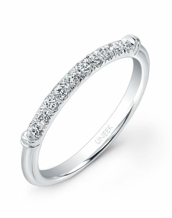 Uneek Fine Jewelry UWB015 White Gold Wedding Ring