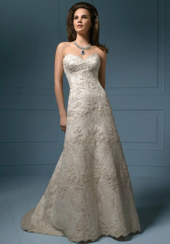 Alfred Angelo Sapphire Bridal Collection 801/801C A-Line Wedding Dress