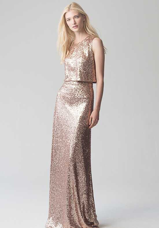 Jenny Yoo Collection (Maids) Lexi Skirt {Rose Gold} #S1731 Bateau Bridesmaid Dress