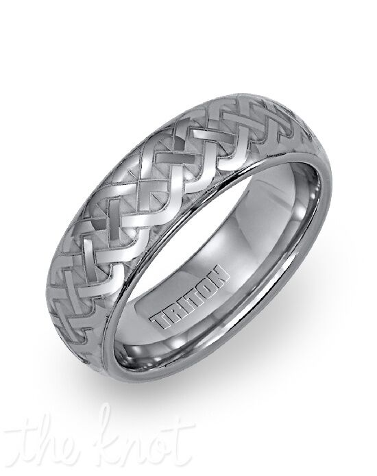 Triton 11-2128C-G Tungsten Wedding Ring