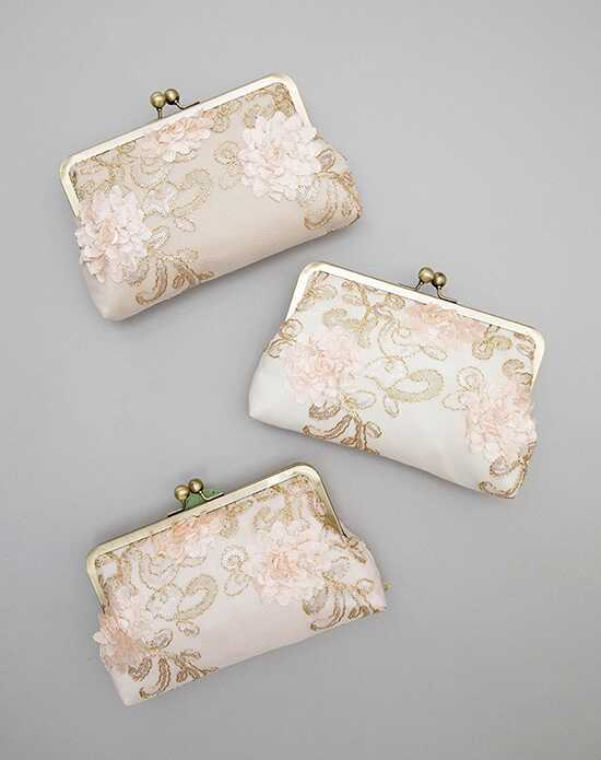 Davie & Chiyo | Clutch Collection Adelaide Clutch Set Ivory, Pink Clutches + Handbag