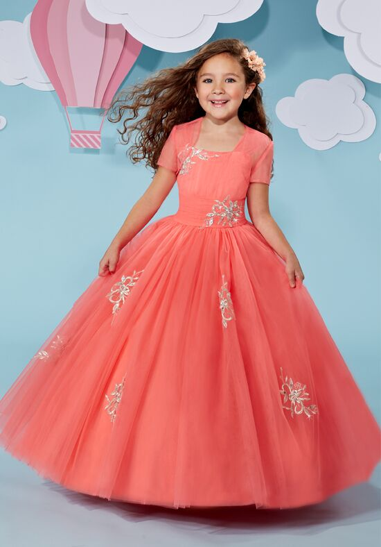 Cupids by Mary's F511 Orange Flower Girl Dress