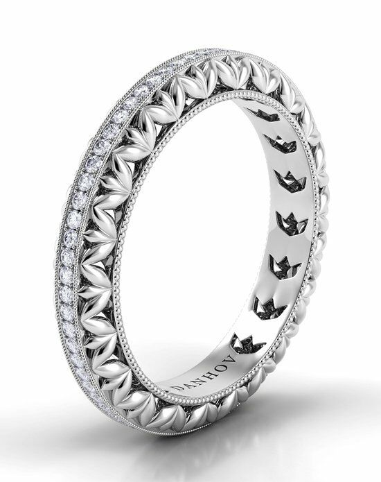 Danhov Petalo Band Platinum Wedding Ring