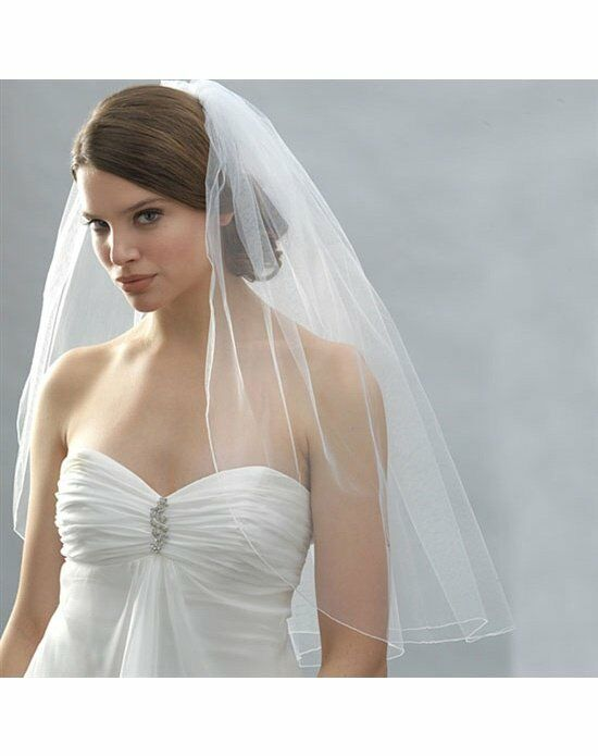 USABride 1 Layer, Pencil Edge Bridal Veil VB-422 Veil