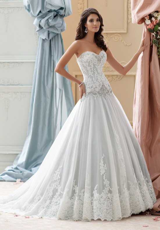 David Tutera for Mon Cheri 115228 Ocean Ball Gown Wedding Dress