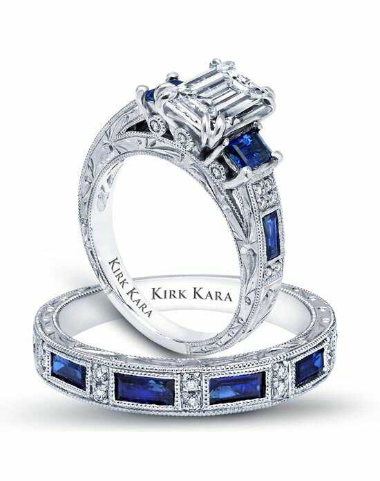 Kirk Kara Classic Emerald Cut Engagement Ring