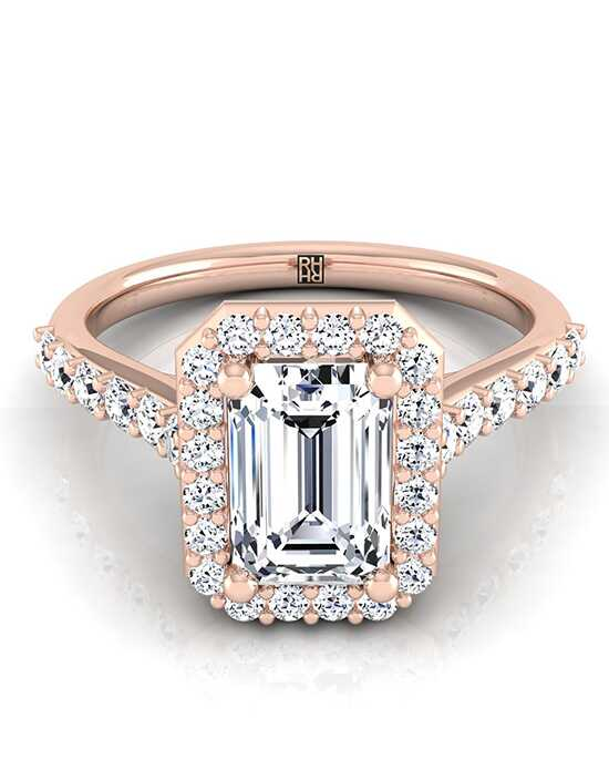 RockHer Glamorous Emerald Cut Engagement Ring