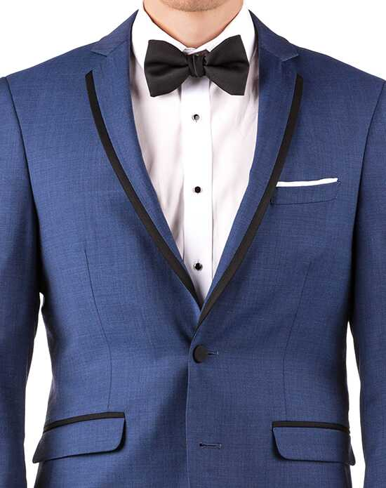 Generation Tux Mystic Blue Notch Lapel Tux Black, Blue, White Tuxedo